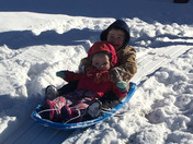 Hank & Lexie Gray's 1st Sledding Experience