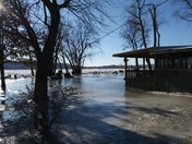 Susquehanna River ice jam flooding at our cottage in Columbia. 1-18-18
