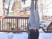 Teach your snowmen who to do yoga handstands. It takes a few minutes, but they're pretty fast learners.
