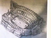 My drawing of Gillette Stadium