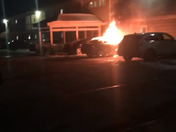 This was a car fire last night at the Altitude apartments in Blue Ash