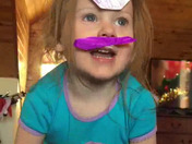Giana wanted a unibrow and mustache, so she made her own!