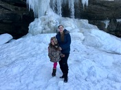 My daughter Alexa and I at Buttermilk Falls