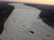 Ice jam starting - Friday 19th Jan.