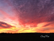Sunset tonight Kissle Hill Road Lititz Pa