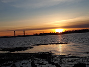 Rio Vista bridge this sunset
