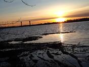 Rio Vista bridge this sunset