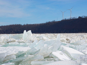Ice Jam on the Susquehanna River