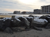 Hampton beach in January