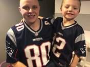 Dad and Son Patriots fans