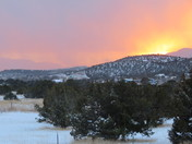 Tijeras winter sunset