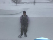 Snow drift in Wayne Ne, almost as tall as my daughter!