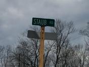 Road closed staub rd