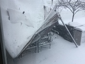 Our canopy collapse from the snow.