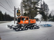White Mountain Ridge Runners hard at work grooming the snowmobile trails
