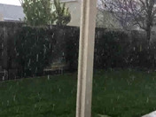 Hail in Vacaville