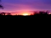 Sunset from the American Rivet Bike trail