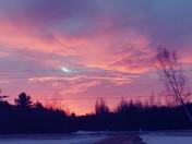 Sunrise this morning in Mooers N.Y. 1/27/18
