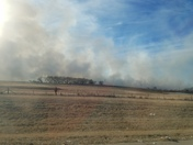 Grass fire N. Of Mulhall Rd/I-35