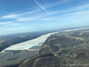 1/27/2018: Ice Covered Susquehanna River at 3000 feet - South of Wrightsville,