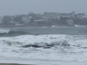 Very high tides and angry waves on Blue/Blood/Eclipse of Moon Eve AM.