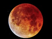 Lunar Eclipse - Supermoon - Blood Moon - from Donner Summit