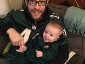 Eagles fan in training