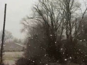 Huge Snowflakes in Shelbyville, Ky