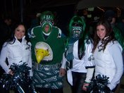 Locals from Conestoga, PA (Birdman and Philly Adlerette) ready for the game