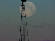 Waning full moon in Madison County