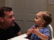 Cute Baby Dancing to Dad's Beatboxing