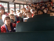 Page Hilltop School Wake up Call from Ayer bus 3...GO PATRIOTS!!!
