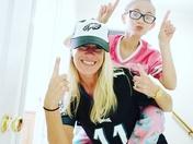 Mother daughter eagles fans