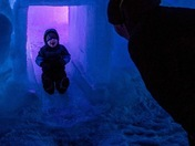 Walter age 4 at Ice Castle in Lincoln, NH