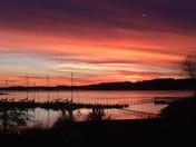 Sunset at Portman Marina