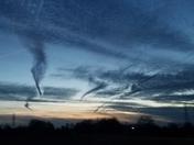 Strange cloud formations