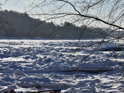 Ice Chunks and a frozen river