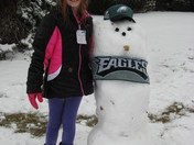Alexis and the Eagles snowman