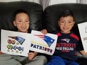Little NE patriots fans