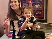 Maddy & me! go patriots!!!