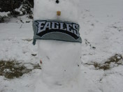 Eagles lucky snowman