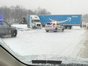 Jackknifed Tractor Trailer on 81 020718