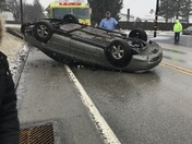 Car flipped this afternoon around 2:30 pm on rt 857