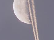Moon over Plane