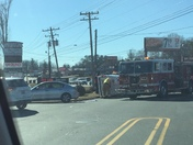 Accident at corner of East Lee and Wade Hampton