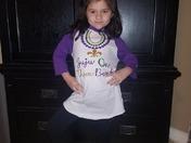 Juliana is ready for Mardi Gras!