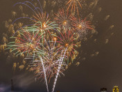 Fireworks tonight in downtwon Des Moines.