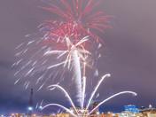 Downtown fireworks.