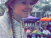 Hannah Murphy riding in the Tucks Parade