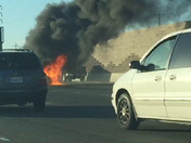 Car fire on Westbound Highway 4